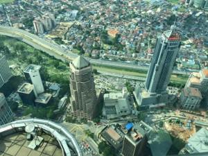 Вид с высоты на Куала-Лумпур